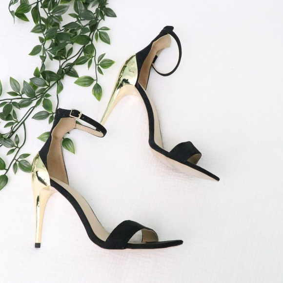 Zara Shoes - Zara Gold and Black Heels 7.5
